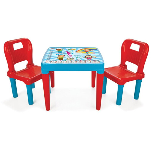 Set masa cu doua scaune Pilsan HOBBY DESK Albastru/Rosu