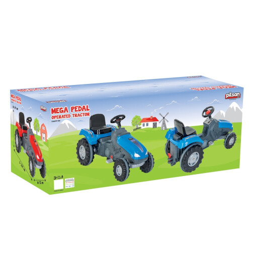 Tractor cu pedale Pilsan MEGA Albastru