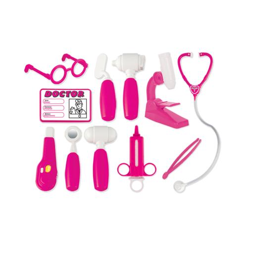 Set doctor cu 11 piese roz Pilsan