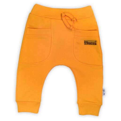 """Pantalon de trening (181276) Colectia """"Big Trucks"""" 2021 Galben"""