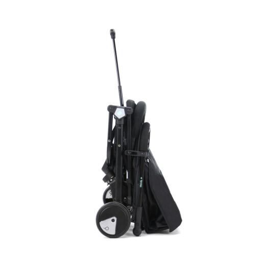 Carucior de calatorie troller ultracompact Asalvo FLIGHT -TRAVEL+ Black/Aqua