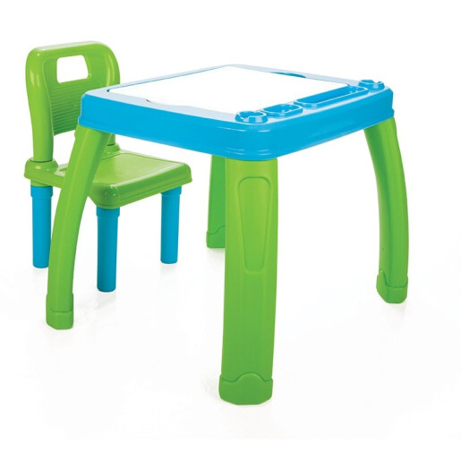 Set masa cu scaun Pilsan STUDY Albastru/Verde