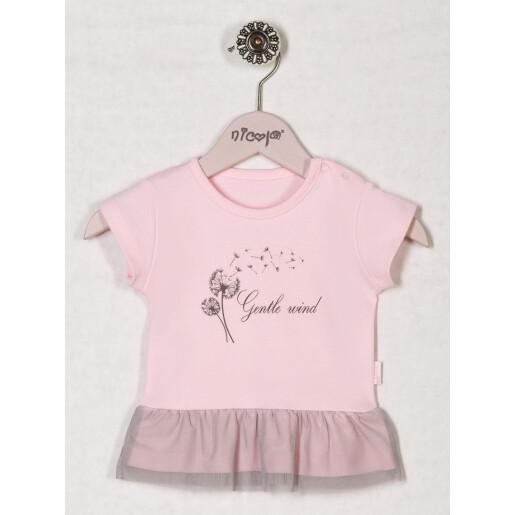 Bluza bumbac 100% Bamar-Nicol GENTLE WIND 13122 marimea 56 roz
