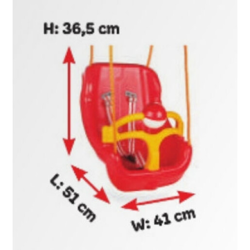 Leagan de interior/exterior Pilsan BIG SWING Rosu