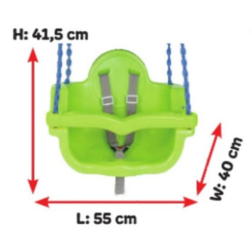 Leagan de interior/exterior Pilsan JUMBO SWING cu lant Verde