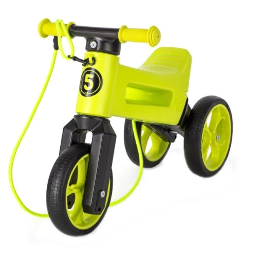 Bicicleta fara pedale Funny Wheels Rider SuperSport 2 in 1 Lime Verde