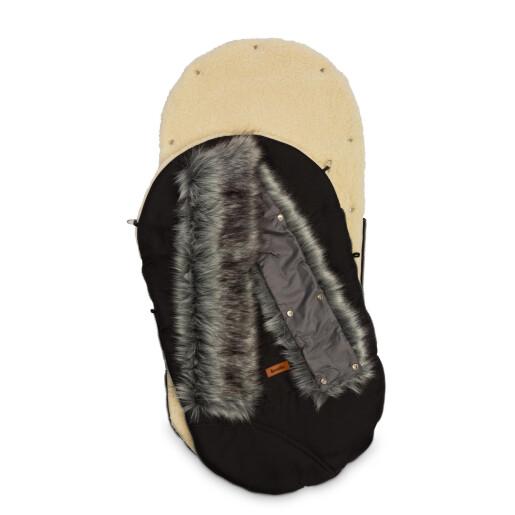 Sac de iarna Sensillo ESKIMO Lana 100x46 cm Negru