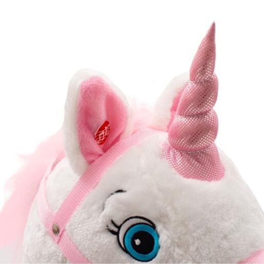 Balansoar cu melodii PlayTo Unicorn Roz