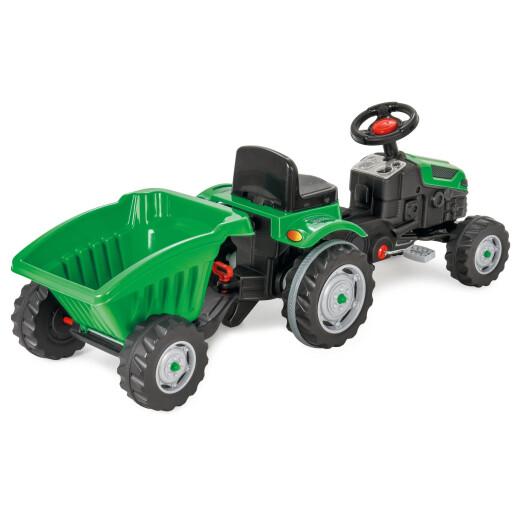 Tractor cu pedale si remorca Pilsan ACTIVE Verde