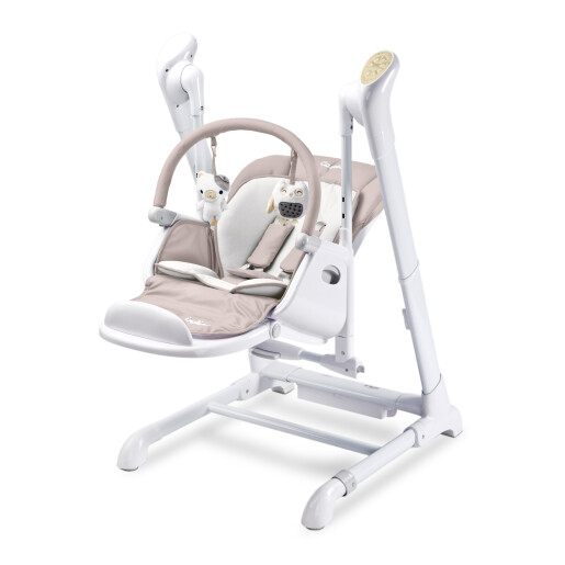 Scaun de masa cu leagan electric Caretero INDIGO 2 in 1 Beige