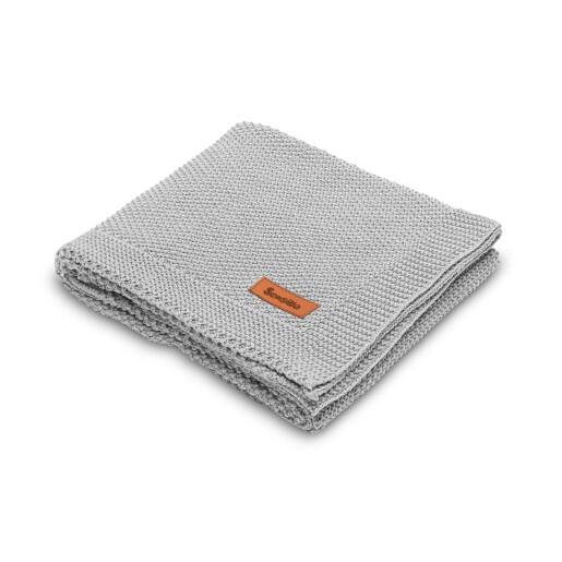 Paturica de bumbac tricotata Sensillo 100x80 cm Grey