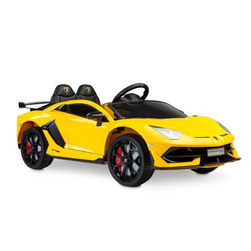 Masinuta electrica cu telecomanda Toyz Lamborghini Aventador SVJ 12V Yellow