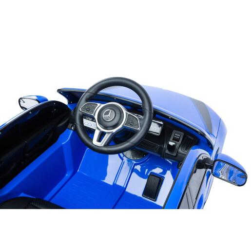 Masinuta electrica cu telecomanda Toyz MERCEDES-BENZ EQC POLICE 12V Albastra