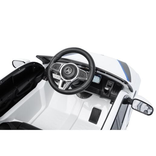 Masinuta electrica cu telecomanda Toyz MERCEDES-BENZ EQC POLICE 12V Alba
