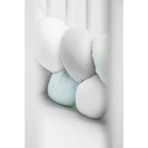 Protectie interioara pentru patut Sensillo 210 cm Menta/Gri