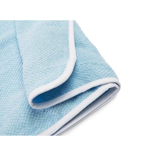 Prosop de bumbac cu gluga Sensillo KREPA 100x100 cm Albastru