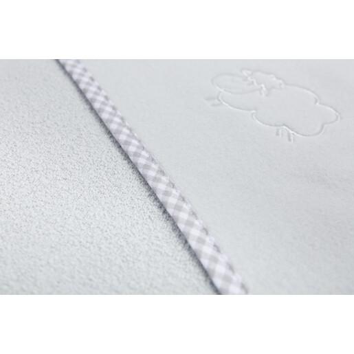 Prosop cu gluga Sensillo SHEEP 80x80 cm Grey