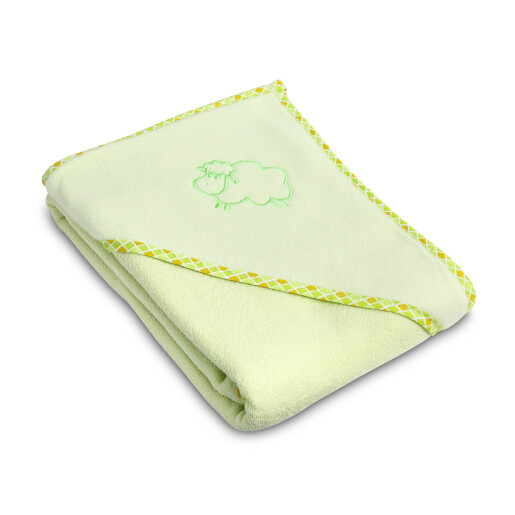 Prosop cu gluga Sensillo SHEEP 80x80 cm Green