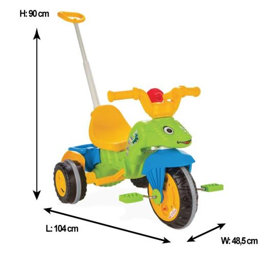 Tricicleta cu maner parental Pilsan CATERPILLAR Verde