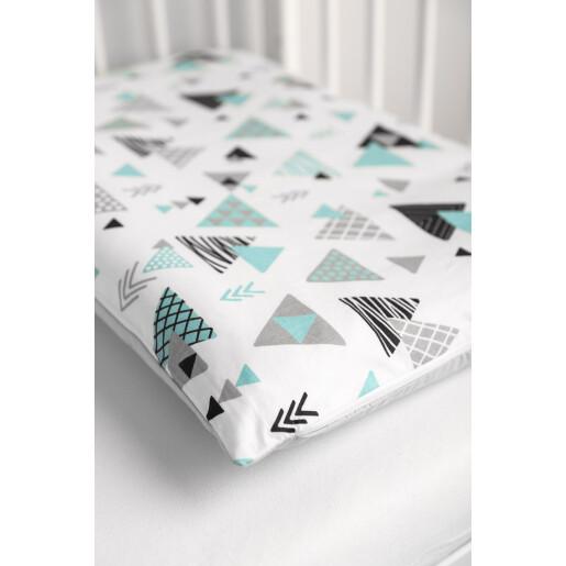 Set lenjerie de pat cu 2 piese Sensillo Triunghiuri Albastre