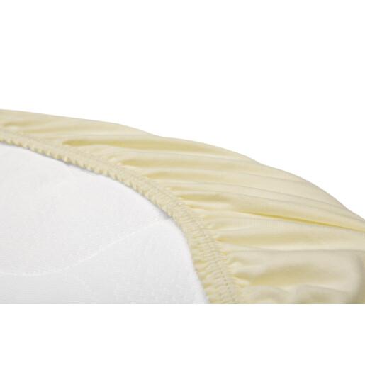 Husa de bumbac cu elastic pentru salteaua de landou Bej
