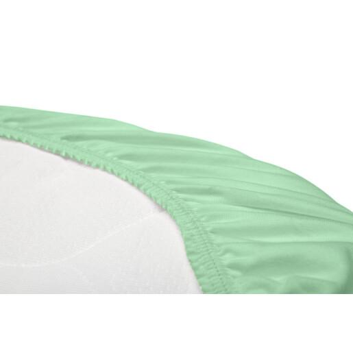 Husa de bumbac cu elastic pentru salteaua de landou Menta