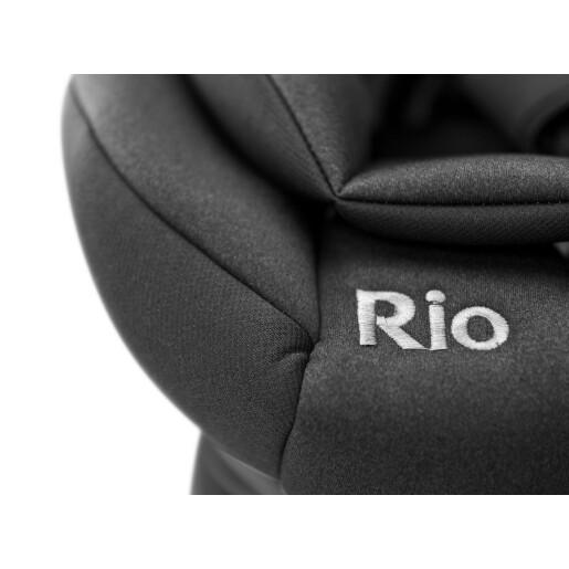 Scaun auto rotativ Caretero RIO i-Size (40-105 cm) 0-22 Kg Negru