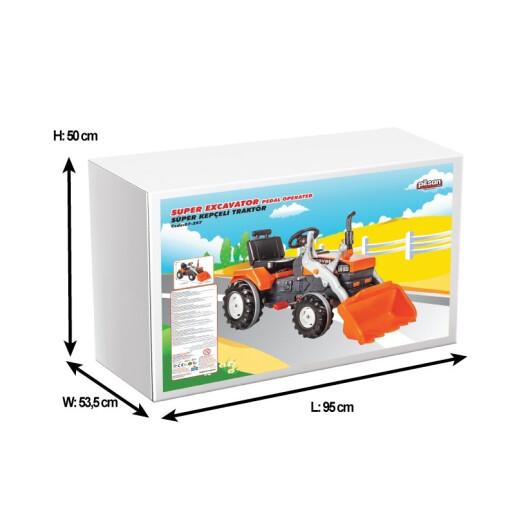 Tractor cu pedale si cupa Pilsan SUPER Portocaliu