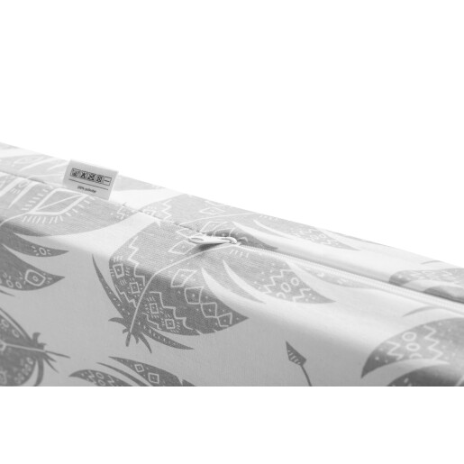Saltea de spuma Sensillo 120x60 cm Gri/Pene