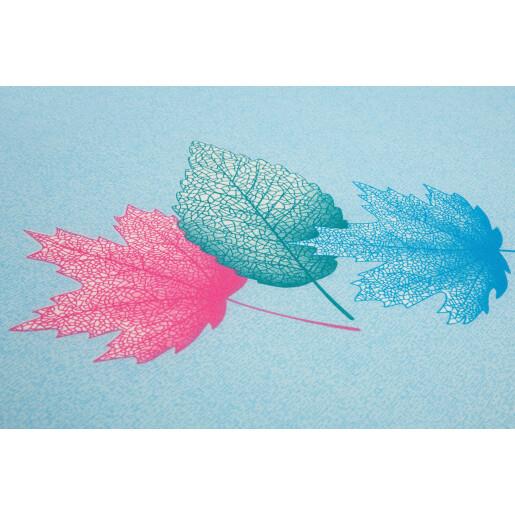 Saltea de spuma Sensillo 120x60 cm Albastra/Frunze