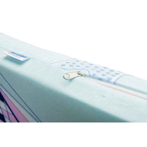 Saltea de spuma Sensillo 120x60 cm Albastra/Barcute