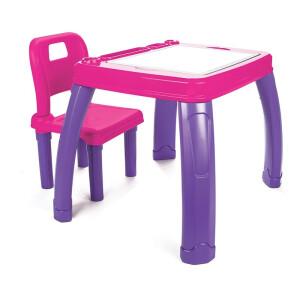 Set masa cu scaun Pilsan STUDY Roz/Mov
