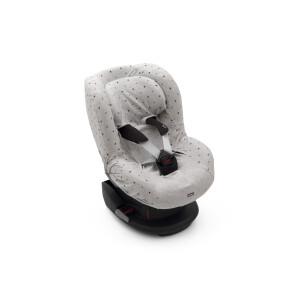 Husa de bumbac pentru scaune auto grupa I Dooky Light Grey Crown