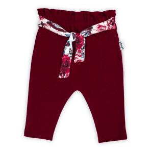 """Pantalon de bumbac 100% Colectia """"Kate"""" 2021 Visiniu"""