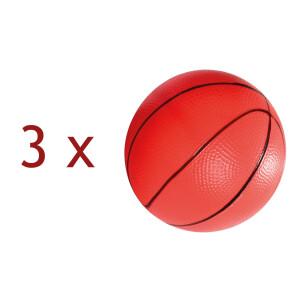 Set de 3 mingi usoare de cauciuc pentru tobogan cu cos de baschet