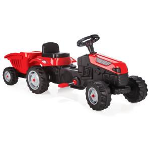 Tractor cu pedale si remorca Pilsan ACTIVE Rosu