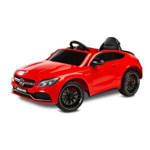 Masinuta electrica cu telecomanda Mercedes AMG C63 S Rosie