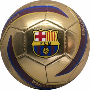 Minge de fotbal FC Barcelona Logo GOLD marimea 5 metalica
