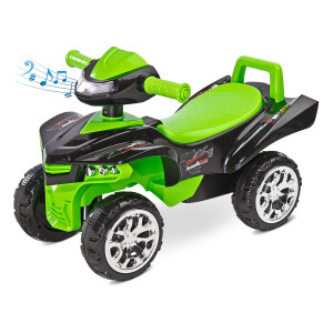 Jucarie ride-on cu sunete si lumini Toyz MINI RAPTOR 2 in 1 Verde