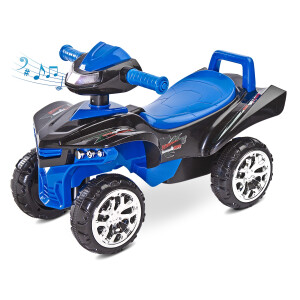 Jucarie ride-on cu sunete si lumini Toyz MINI RAPTOR 2 in 1 Albastra