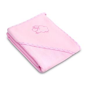Prosop cu gluga Sensillo SHEEP 80x80 cm Pink
