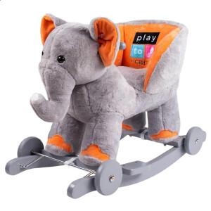 Balansoar de plus cu roti PlayTo Elefant