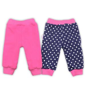 Pantaloni cu doua fete bumbac 98% Bamar-Nicol 14338 marimea 80 blumarin/roz