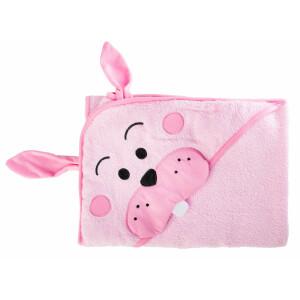 Prosop cu gluga brodata Water Friends Pink Iepuras 100x100 cm