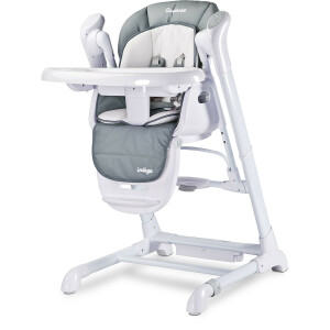Scaun de masa cu leagan electric Caretero INDIGO 2 in 1 Grey