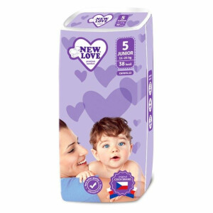 Scutece New Love PREMIUM COMFORT 5 Junior 11-25 Kg 38 buc.