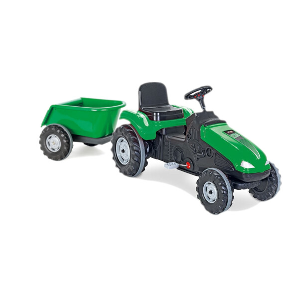Tractor cu pedale si remorca Pilsan MEGA Verde