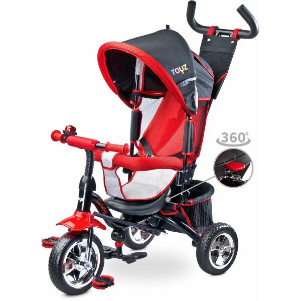 Tricicleta cu maner si scaun reversibil Toyz TIMMY Red