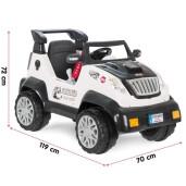 Jeep electric cu telecomanda Pilsan FANTASTIC 12V Alb