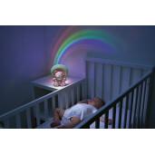 Proiector cu melodii Chicco Rainbow Bear Roz